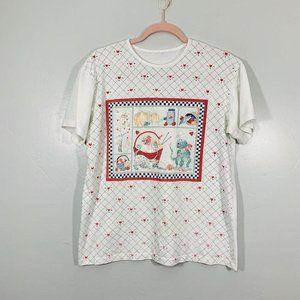 Vintage 80's White Harvest Scene Graphic T-Shirt